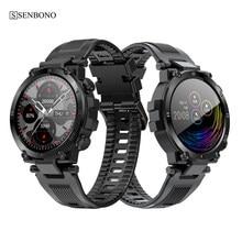SENBONO 2020 hommes plein écran tactile montre intelligente IP68 étanche soutien HR/BP Fitness Tracker D13 smartwatch pour IOS Android