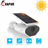 Keeper Outdoor Solar Powered Security Camera Low Power Rechargeable Battery Wire Free Solar WiFi Camera 960P Wireless camera