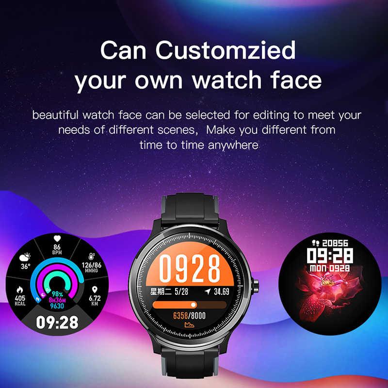LIGE Новые смарт-часы с полным сенсорным экраном IP68 водонепроницаемый монитор сердечного ритма и артериального давления спортивные умные часы напоминание