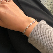 High quality fashion versatile personality Korean 925 sterling silver women's bracelet jewelry anniversary gift