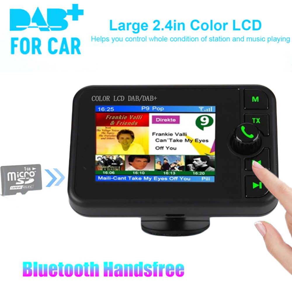 Mini DAB Digital Radio Empfänger Bluetooth MP3 Musik Player FM Transmitter Adapter Bunte LCD Screen Für Auto Zubehör