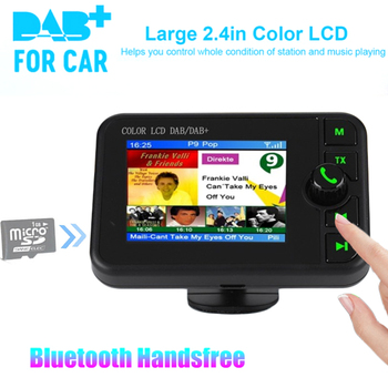 Mini DAB Digital Radio Receiver Bluetooth MP3 Music Player FM Transmitter Adapter Colorful LCD Screen For Car Accessories