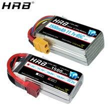 HRB 7,4 V 1500mah 11,1 V литий-полимерная батарея 65C 2S 3S T XT60 Deans RC Parts 14,8 V 18,5 V 22,2 V 4S 5S 6S для FPV; Дрон; Гонки самолет автомобиль
