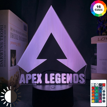 цена на Customize Apex Legends LOGO Night Light Led Table Lamp Color Changing Light Room Decor Ideas Cool Event Prize Gamers Battery