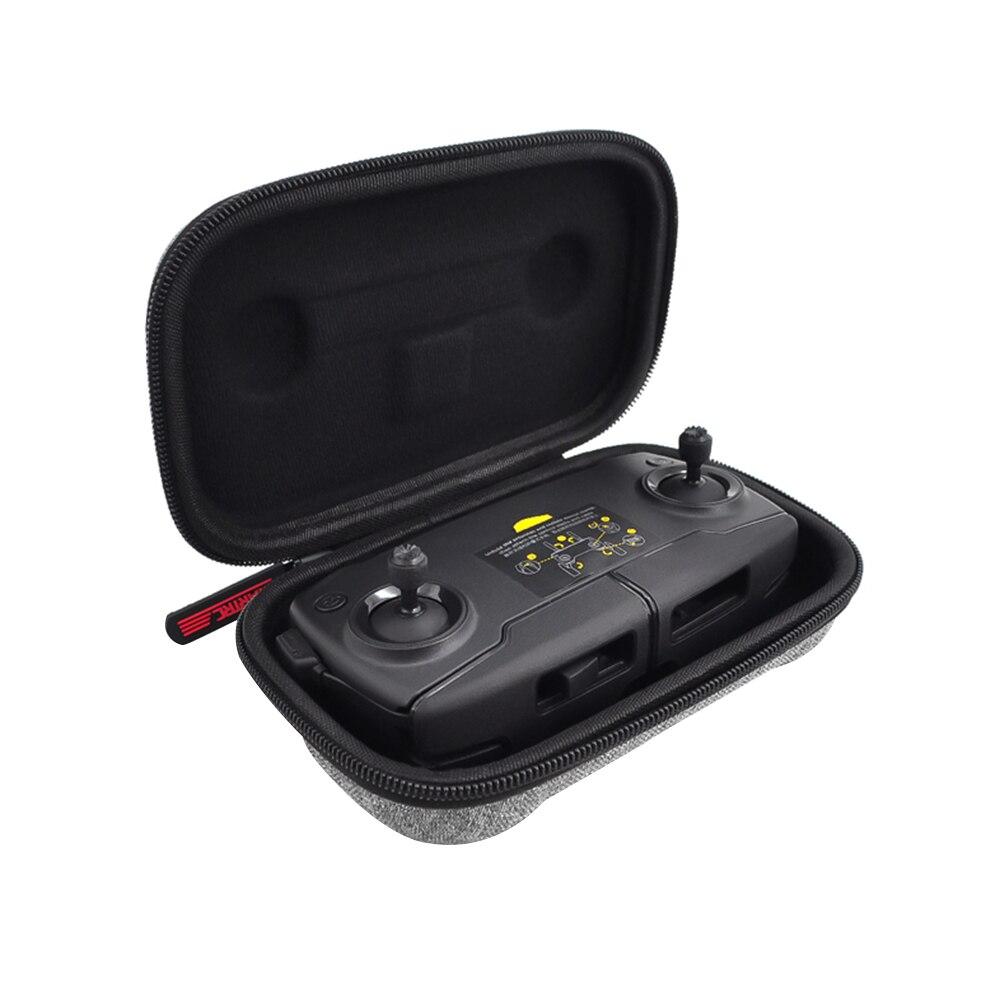 Жесткий двойной молнии сумка для дрона Ткань Оксфорд чехол для переноски защитный пульт дистанционного управления пакет хранения путешествия портативный для DJI Mavic Mini - Цвет: Remote Bag
