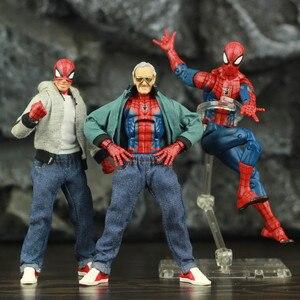 """Image 1 - Spider Peter Parker 6 """"figurine classique tissu T shirt jean KOs ML légendes bande dessinée Pizza vengeur père homme jouets poupée modèle"""