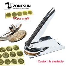 ZONESUN Custom LOGO Tools Stamp Personalized Return Address Embosser Wedding Craft Supplies Seal Name Embossing Stamp
