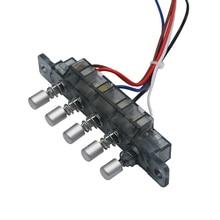 2 шт. Midea дымовой вытяжной вентилятор шестерни переключатель 5 клавиш клавиатура переключатель с линиями Диапазон капот запчасти
