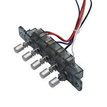 2pcs Original Midea Smoke Exhaust Ventilator Gear Keyswitch 5 Keys Keyboard Switch with Lines Range Hood Parts