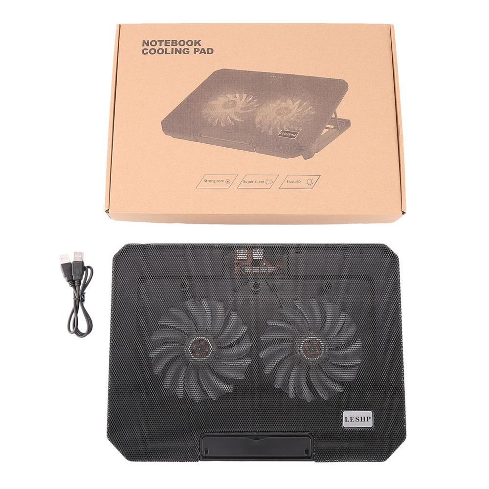 Lightweight Unique 2 Silent Fan USB Interface Cooler Adjustable Height Laptop Cooling Pads Notebook Cooling Pad Radiator S200C