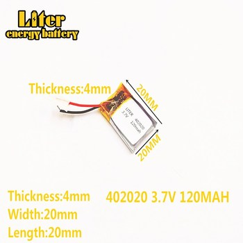 3.7V 120mAh 402020 Lithium Polymer Li-Po li ion Rechargeable Battery cells For Mp3 MP4 MP5 GPS mobile bluetooth image