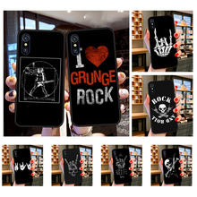 NBDRUICAI Rock roll skull DIY Painted Bling Phone Case for iPhone 11 pro XS MAX 8 7 6 6S Plus X 5S SE XR case(China)
