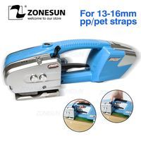 ZONESUN Battery Strapping Tools Hand Held PP PET Strapping Machine Plastic Belt Packaging Battery Strap Width13 16mm JD16