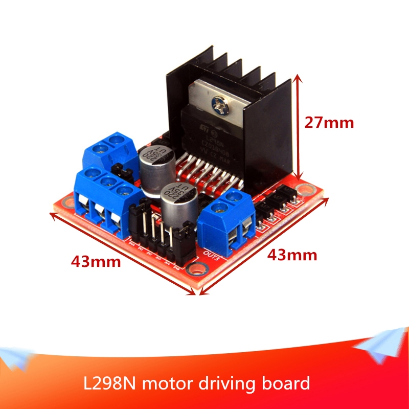 L298N Motor Driving Board DC Stepper Motor Robot Cart <font><b>Compatible</b></font> with Arduino Control Smart Robot <font><b>Car</b></font> Tank Chassis&R3 Board image