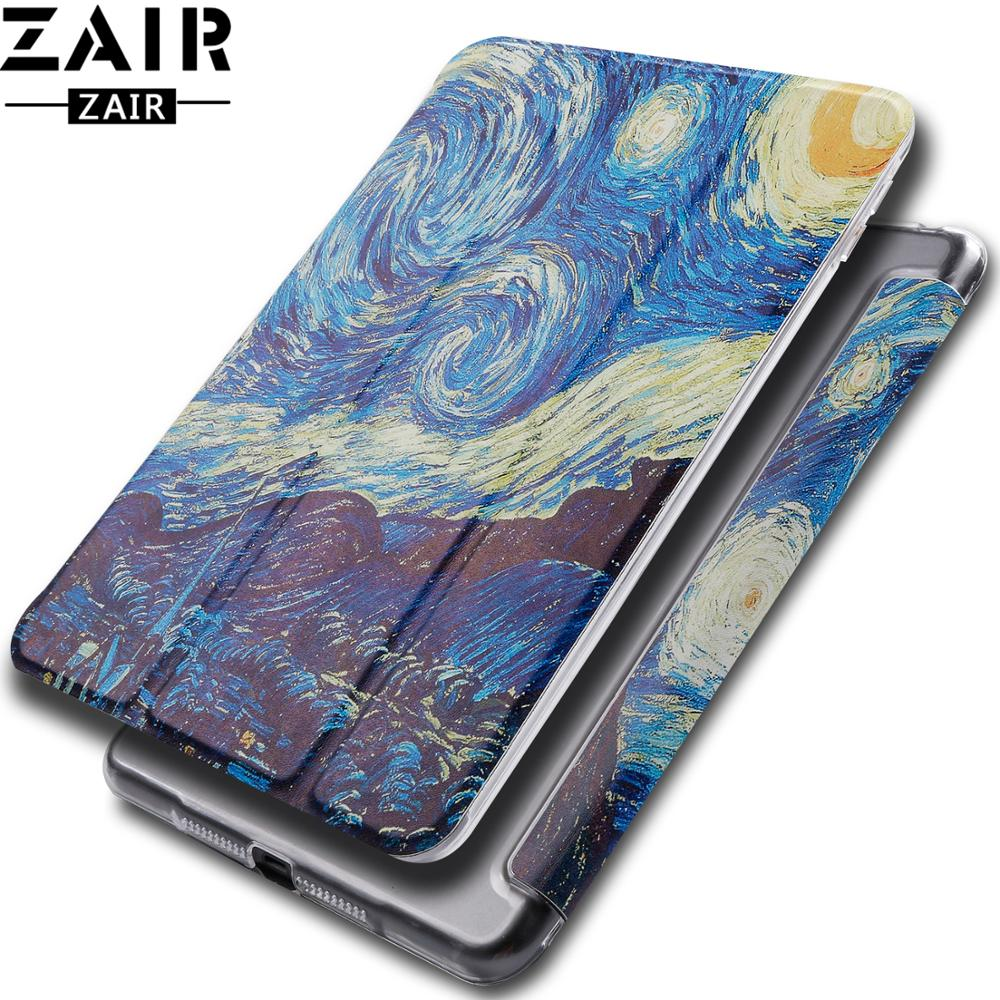 Cartoon Tablet <font><b>case</b></font> for Apple <font><b>ipad</b></font> <font><b>mini</b></font> 1 2 3 4 <font><b>5</b></font> <font><b>2019</b></font> Smart wake Sleep fundas fold Stand Painted cover capa bag for Mini4 Mini5 image