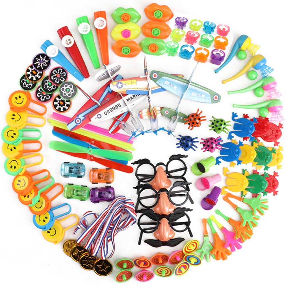 100pcs Birthday Pinata Fillers Party Supplies Giveaways Prizes Assorted Small Toys Set Classroom Treasure Box Party Gift Favors