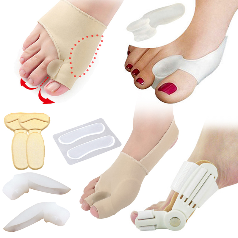 Hallux Valgus Bunion Corrector Toe Separator Pedicure Tools Cushion Pad Bone Thumb Straightener Anti Rubbing Pad Shoes Stickers