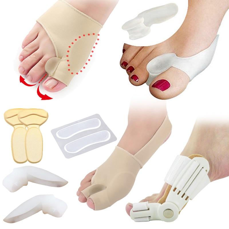 Hallux Valgus Bunion Corrector Toe Separator Pedicure Tools Cushion Pad Bone Thumb Straightener Anti Rubbing Pad Shoes Stickers