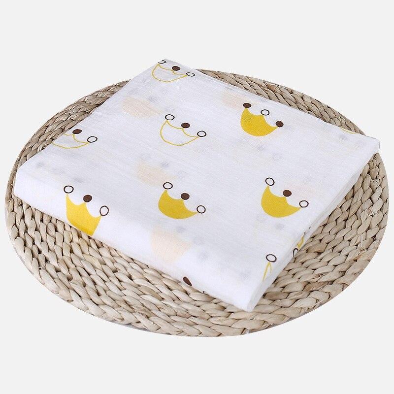 1 шт., муслин, хлопок, детские пеленки, мягкие одеяла для новорожденных, для ванной, марля, Детская накидка, спальный мешок, чехол для коляски, игровой коврик - Цвет: Crown