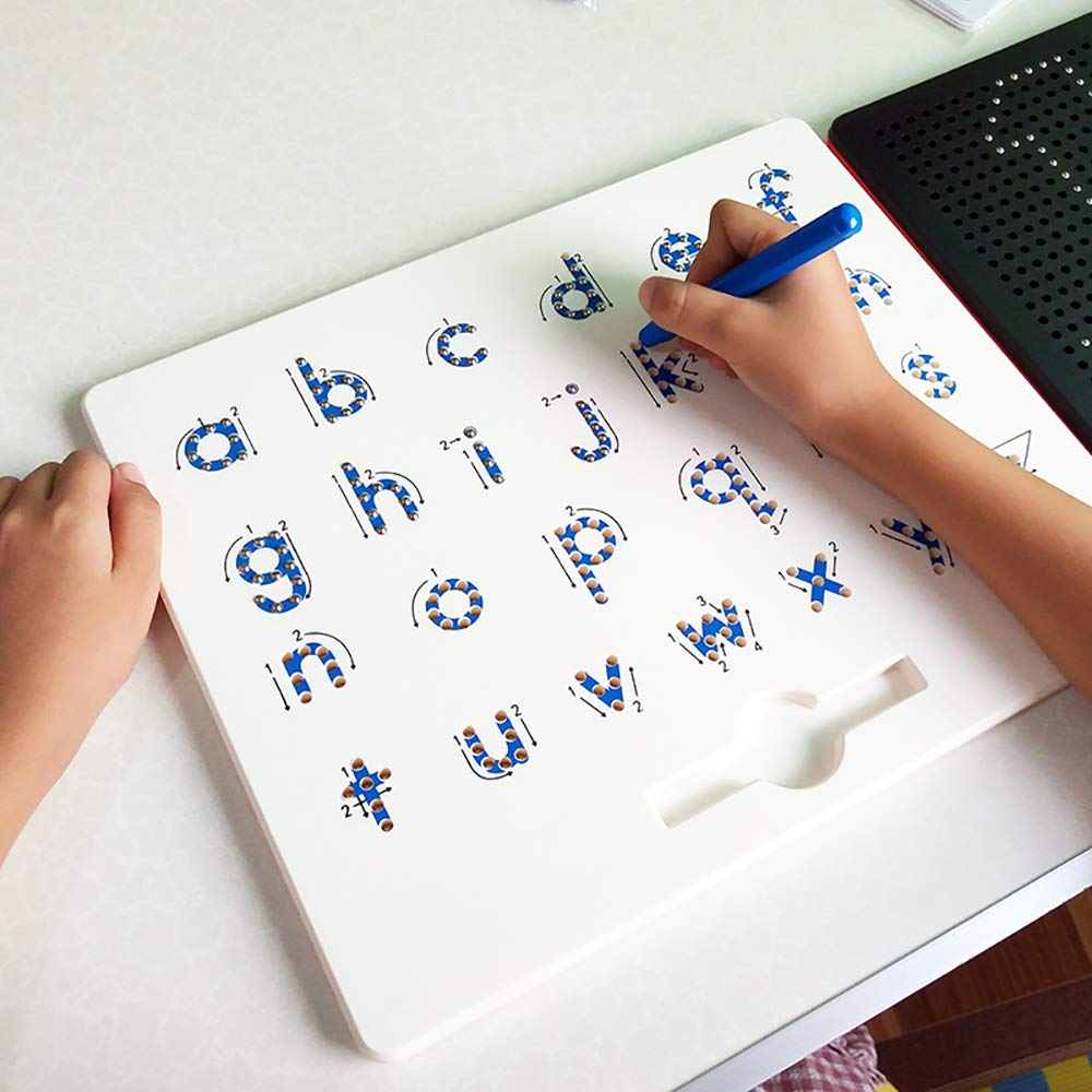 Kids Doodle Magnetic Drawing Board Pad Toys Children's Alphabet Number Writing Sketch Pad Tablet Educational Toys Preschool Gift