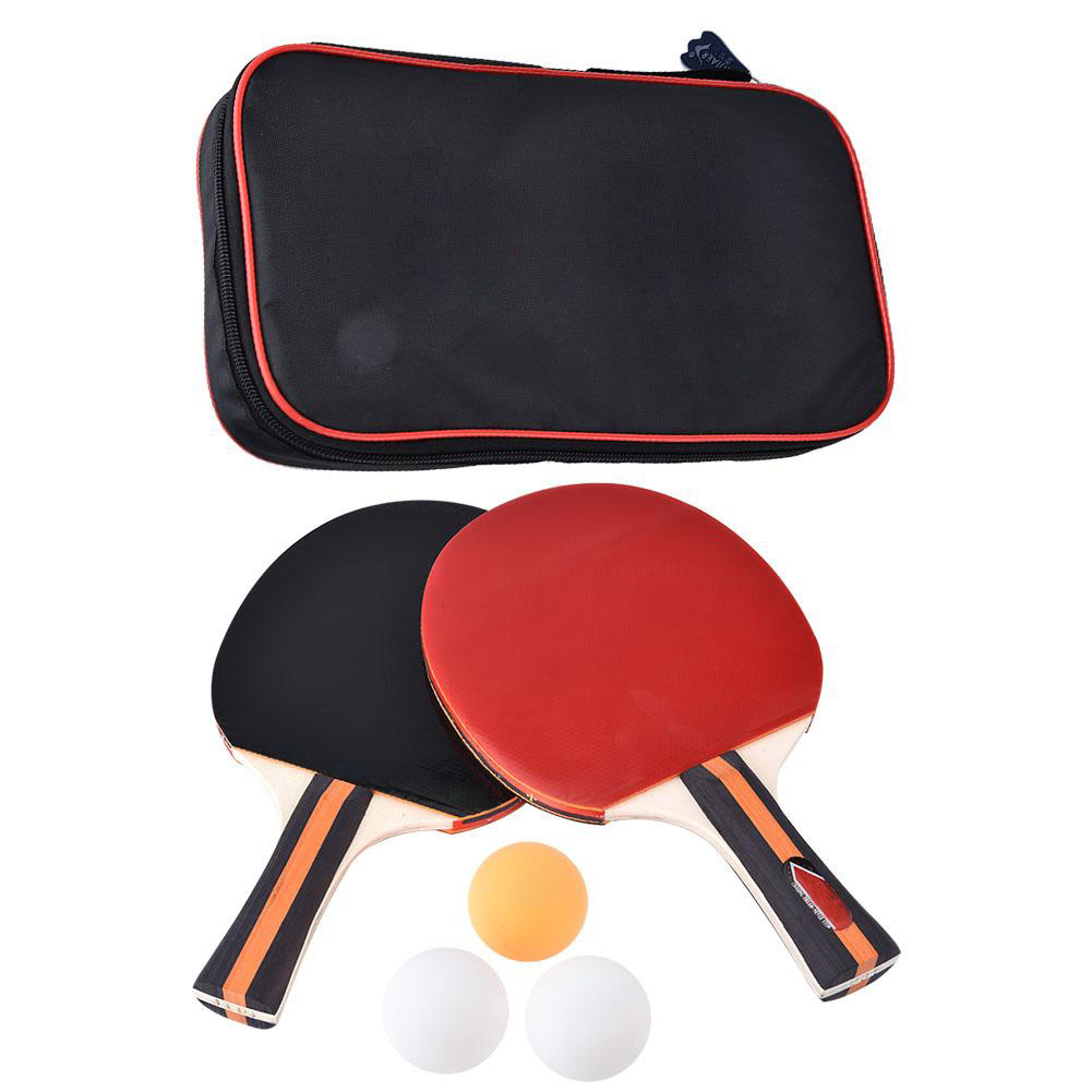 Training Ping-pong Bat Double Beating For Teaching, Two Ping-pong Rackets To Assemble Three Balls Table Tennis