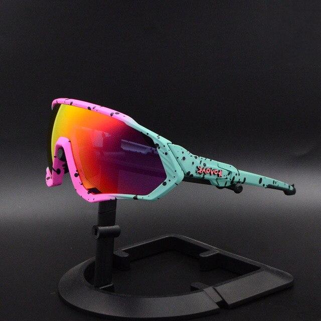 Ciclismo eyewear esportes dos homens óculos de ciclismo mountain bike ciclismo óculos mulher ciclismo óculos uv400 5 lente 1