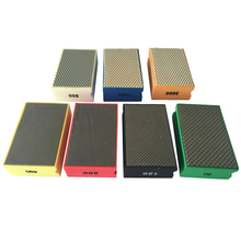Free shipping 12pcs Hot sale pad 90*55mm Foam Backed Glass Polishing Pad Stone Ceramic Tile Grinding Diamond Abrasive Pads