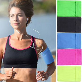 Gym Sports Running Jogging Armband Arm Band Bag Holder Case Cover For Cell Phone Armband 3E26 4
