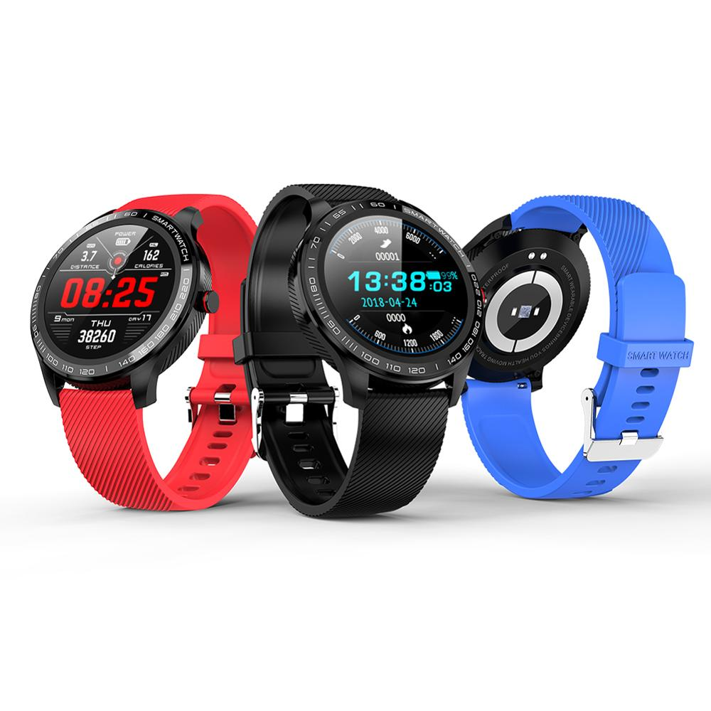 L9 Men Smart Watch ECG PPG Heart Rate Blood Pressure Fitness Tracker IP68 Waterproof Wristwatch Business <font><b>Smartwatch</b></font> VS L5 <font><b>L7</b></font> L8 image