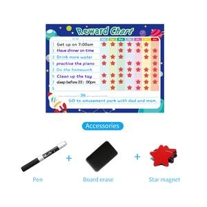 Image 5 - Pizarra blanca extraíble para nevera planificador semanal, pizarra magnética para limpiar en seco, calendario, tabla de recompensas para niños, papelería escolar para el hogar