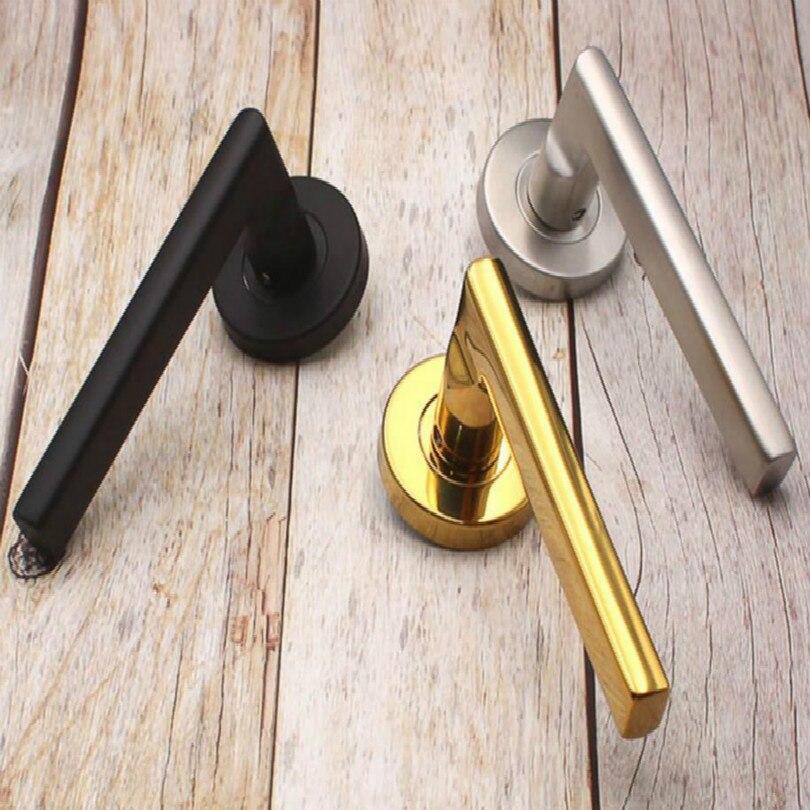 Door Handles For Interior Doors Outside Black Door Handle Black Golden Silver Door Pulls Without Lock Free Shipping