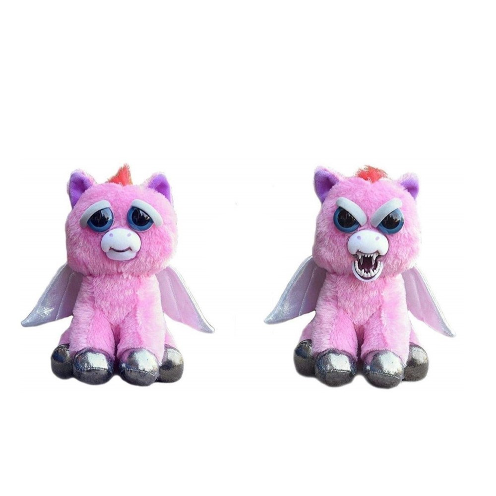 22cm Feisty Pets Funny Face Changing Unicorn Soft Toys For Children Stuffed Plush Dragon Angry Animals Doll Panda Gifts For Kids