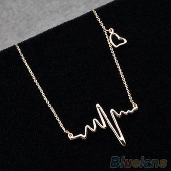 Women Necklace Alloy coker ECG Style Chain Choker Woman's accesories Jewelry gold necklace collier fashion necklaces 2019 image