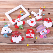 Christmas decorations led brooch with led for adult children cartoon hairpin holiday