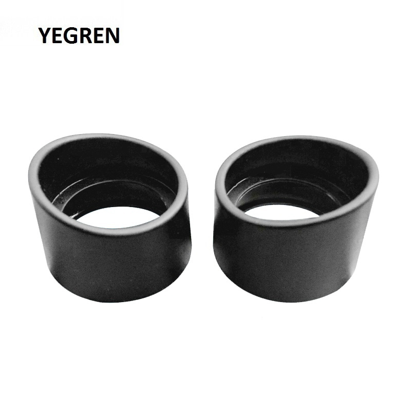 Two Pieces Rubber Eye Cups Guards Caps for 32-35 mm Microscope Eyepiece Telescope Inner Diameter 34 Accessories One Pair