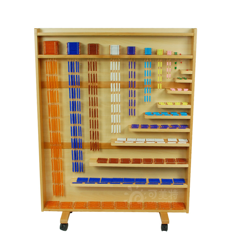 Fabricants vente directe Montessori aides pédagogiques carré perle collier cadre enfants apprentissage mathématiques aides pédagogiques