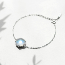 Thaya Aurora Ladies Bracelets s925 Silver Gradient Crystal Magical Bracelet Female Simple Elegant Dainty Friendship Jewelry