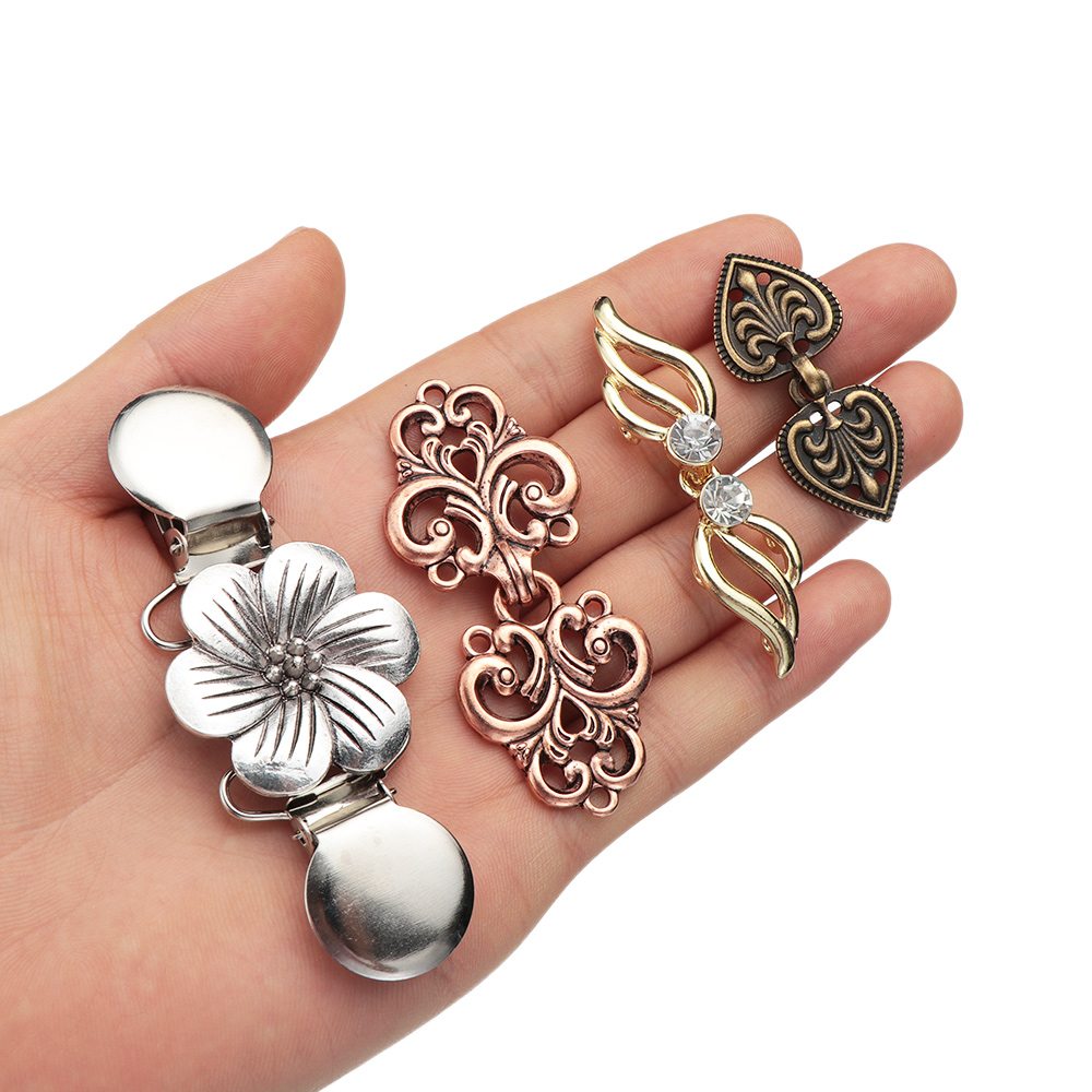Women Fashion Cardigan Clip Shawl Brooch Sweater Blouse Pin Duck  Clip Pin Vintage Sewing Trendy Charm Jewelry Hot Sale High Qua