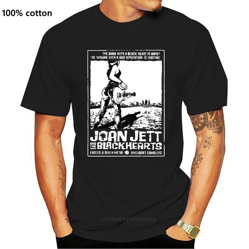 Joan Jett The Blackhearts Runaways T Shirt Couples Funny Brand Clothes Slim Fit Blacking
