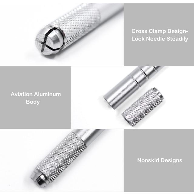 10/20pcs Microblading Pen Lightweight Manual Microblade Needle Holder Caneta Tebori Microblading Eyebrow Tattoo Pen Autoclave 4