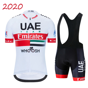2020 Team UAE Cycling Jerseys Bike Wear clothes Quick-Dry bib gel Sets Clothing Ropa Ciclismo uniformes Maillot Sport Wear