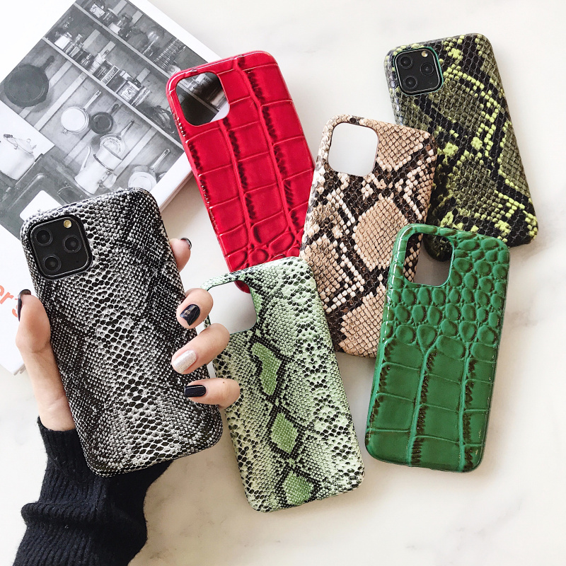crocodile Texture soft <font><b>silicone</b></font> phone <font><b>case</b></font> For <font><b>iphone</b></font> 11 pro XS MAX X XR 7 8 6 <font><b>6S</b></font> plus Snake Skin Pu <font><b>Leather</b></font> cover coque Fundas image