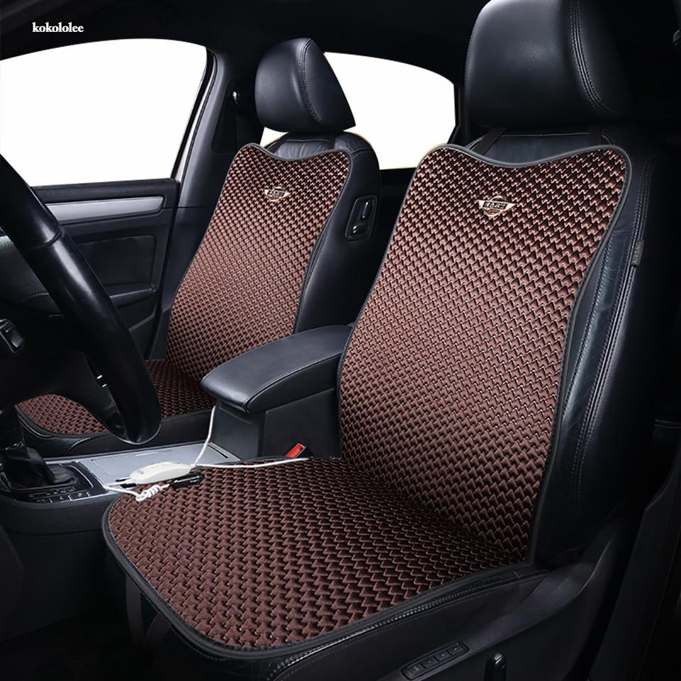 Kokololee 12V Riscaldata copertura di sede dell'automobile per Isuzu tutti i modelli D-MAX mu-X Pad Inverno Cuscini car styling anteriore seggiolini auto