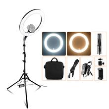 Spash wielofunkcyjny wodoodporny 14 cal 18 cal lampa pierścieniowa światło LED do kamery lampka do makijażu z stojak trójnóg TL-160S TL-600S L4500 RL-12A RL-18A tanie tanio capsaver CN (pochodzenie) Ue wtyczka Światło dzienne 5600 K
