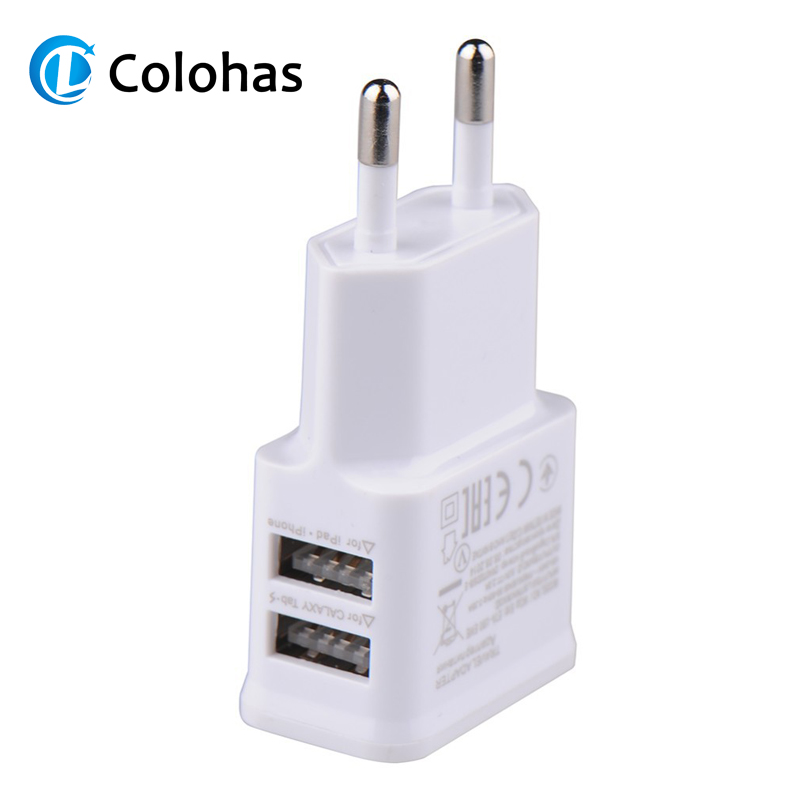 European/USA/Canada EU US Plug Dual Port Travel Home Wall USB Charging Charger for Samsung Galaxy S4 5 Note 2 3 LG Sony ZTE Pad(China)