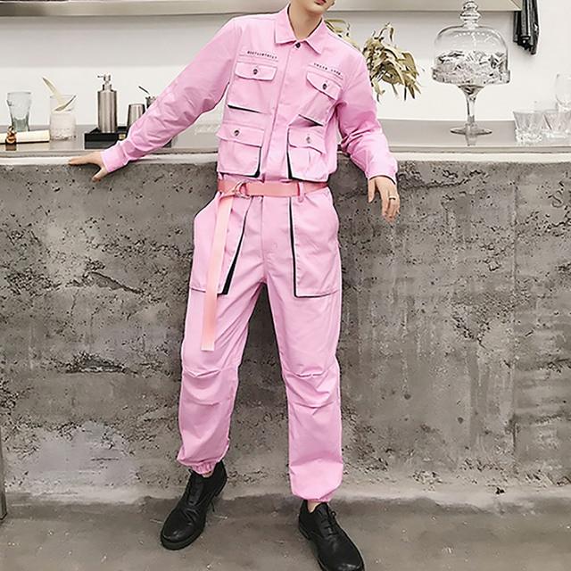 Aelfric Eden Hip Hop Streetwear Jumpsuit Men 2020 Fashion Multi Pockets Ribbons Cargo Pants Long Sleeve Rompers Joggers Techwear 23