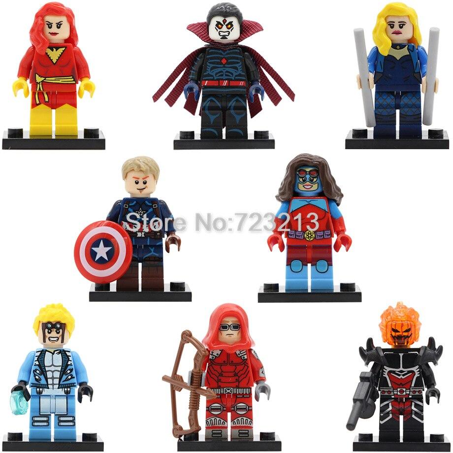 Super Hero Figure Dark Phoenix Cannonball Atom Woman Dormammu Mr Sinister DC Red Arrow Canari Building Blocks Toys PG8059
