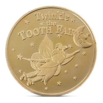 Tooth Fairy Gold Plated Commemorative Coin Creative Kids Tooth Change Gifts Physical Metal Coin Crypto Commemorative Coin 1