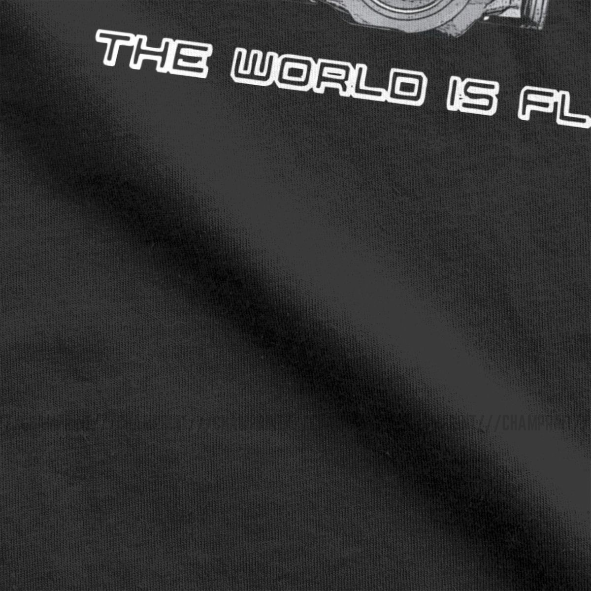Car Geek Love Boxer Engine The World Is Flat Men T Shirt Leisure Tees Short Sleeve Round Neck T-Shirt Pure Cotton Printed Tops