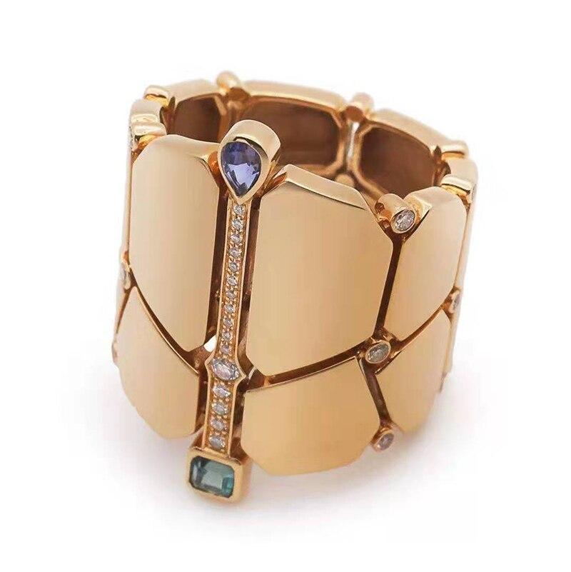 Original fit 925 bague en argent sterling haute qualité classique bijoux de mode exagéré largeur anneau style romain taille 6 7 8